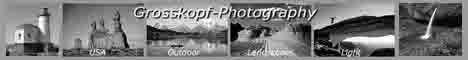 Fotos und Reiseberichte von Rainer Grosskopf aus den USA und Kanada, überwiegend mit Motiven von Landschaften, Leuchttürmen und Städten. Fotos aus Australien, Afrika, Europa und Asien. Fotos und Informationen zu Farbverfremdungen mit Color Key und über den Gummidruck, ein altes kunstphotografisches Verfahren.